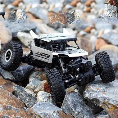 BS RC 2.4GHz Monster 4WD METAL CRAWLER 1:18 |rc auto silver