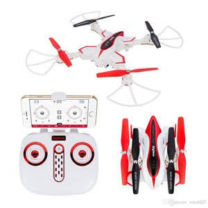 Syma X56W Folding Wizard Drone (opvouwbaar) met HD FPV live camera quadcopter -wit